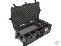 Pelican 1615 Air Wheeled Check-In Case (Black, with TrekPak Insert)