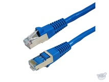 Dynamix 0.5M Cat6A STP 10G Patch Lead - Slimline Molding (Blue)