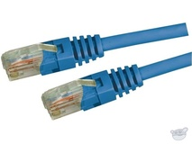 Dynamix 5M Cat5E UTP Patch Lead - Slimline Molding & Latch Down Plug (Blue)