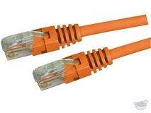 Dynamix 2M Cat5E UTP Patch Lead - Slimline Molding & Latch Down Plug (Orange)