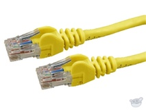 Dynamix 0.3M Cat 6 UTP Patch Lead - Slimline Snagless Molding (Yellow)
