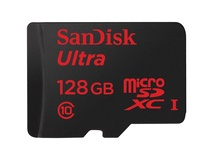 SanDisk 128GB microSDXC Memory Card Ultra Class 10 UHS-I with microSD Adapter