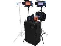 Dracast Bi-Colour 3-Light Interview Kit with V-Mount Battery Plates