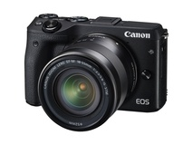 Canon EOS M3 Mirrorless Digital Camera with 18-55mm Lens (Black)