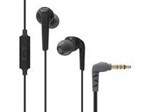 MEElectronics RX18P Comfort-Fit In-Ear Headphones with Enhanced Bass and Inline Mic (Black)
