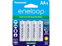 Panasonic Eneloop AA Rechargeable Ni-MH Batteries (2000mAh, Pack of 8)