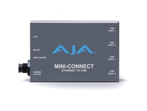 AJA Mini-Connect Ethernet to 4-Port USB Converter
